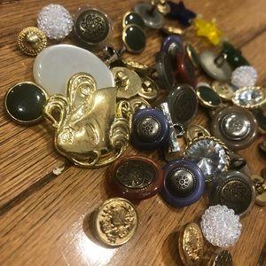 BOGO FREE Vintage Button Lot of 40+